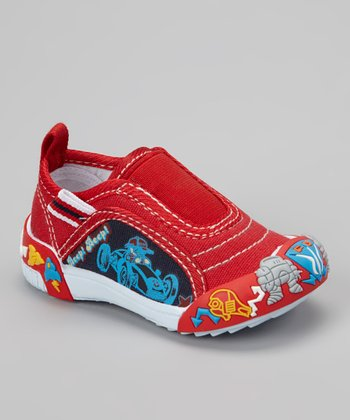 Red Go-Cart Slip-On Shoe
