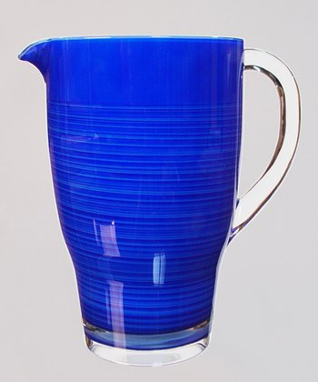 Blue Handbrush 3-Qt. Pitcher