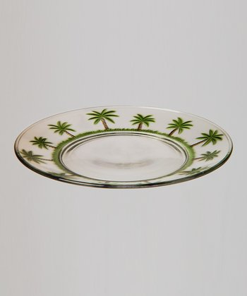 Palm Tree 9'' Plate - Set of Four