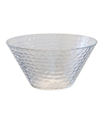 Clear Large Hammered Bowl
