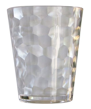 Clear Hammered Double Old-Fashioned Tumbler - Set of Four