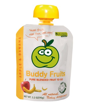 Apple & Banana Blended Fruit Pouch - Set of 18