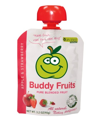 Apple & Strawberry Blended Fruit Pouch - Set of 18