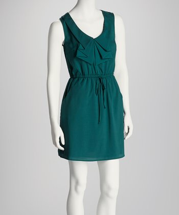 Hunter Green Pleat Dress