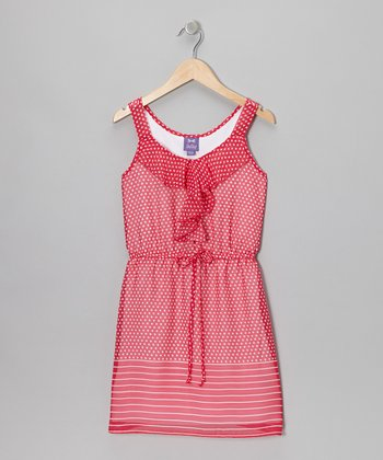 Candy Pink & White Polka Dot Dress