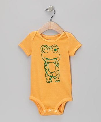 Orange Frog Bodysuit - Infant