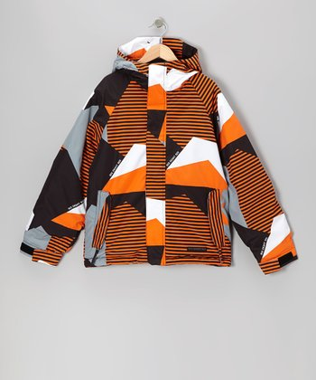 Orange Mannual Mix Jacket