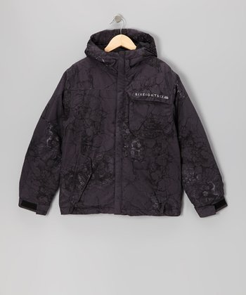 Gunmetal Mannual Cracked Jacket - Boys