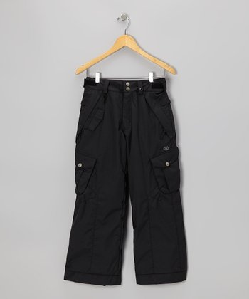 Black Smarty Cargo Pants