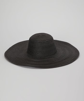 Black Straw Braid Sunhat