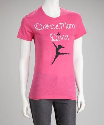 Fuchsia 'Dance Mom Diva' Tee - Women