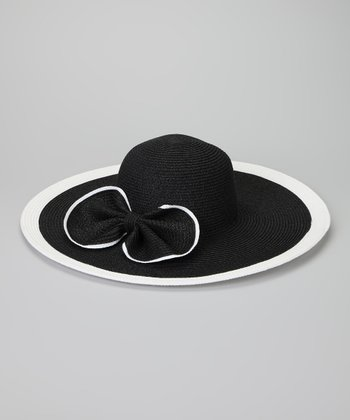 Black & White Bow Sunhat
