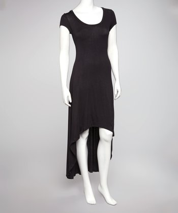 Black Hi-Low T-Shirt Dress