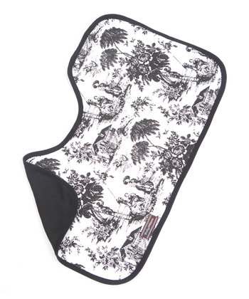 Black & White Toile Burp Cloth