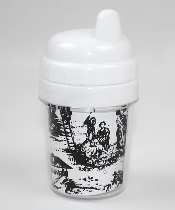 Black & White Toile Sippy Cup