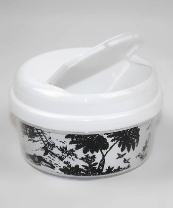 Black & White Toile Snack Container
