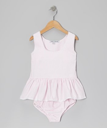Pink Stripe Sunsuit - Infant & Toddler