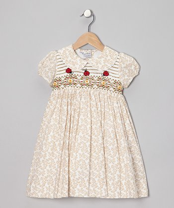 Brown Ladybug Dress - Infant & Girls