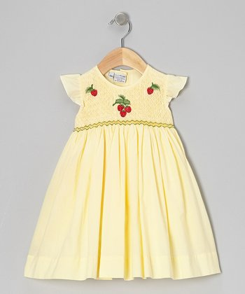 Yellow Strawberry Dress - Infant & Girls