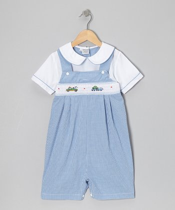 Blue Gingham Triple A Romper - Infant & Toddler