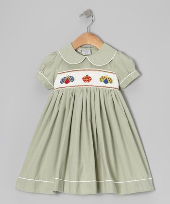 Green The Bug Lady Dress - Girls
