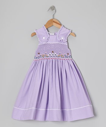 Purple Garden Spring Dress - Infant, Toddler & Girls