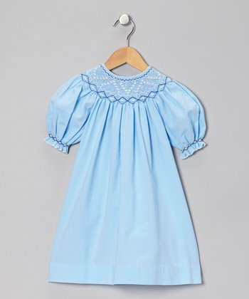 Blue Bishop Dress - Infant, Toddler & Girls