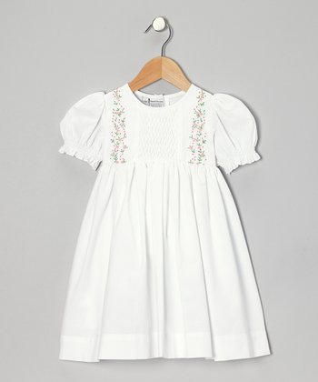White Rosa Dress - Infant & Girls