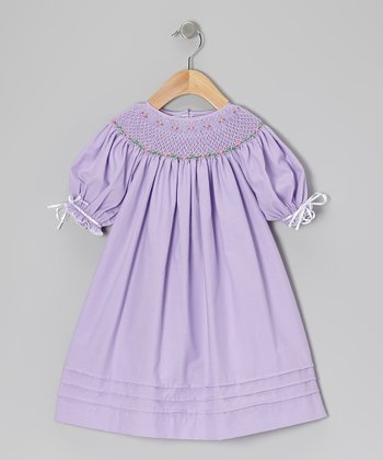Purple & Pink Million Roses Bishop Dress - Infant