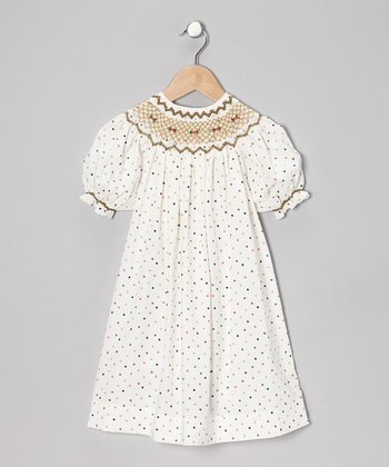 Brown Polka Dot Royal Bishop Dress - Infant & Girls