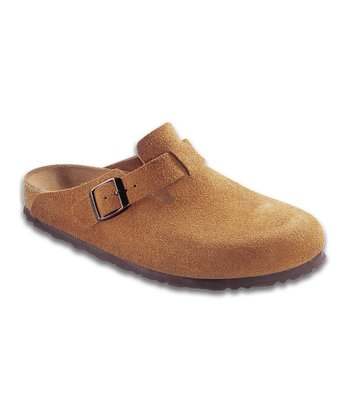 Brown Suede Boston Mule - Women & Men