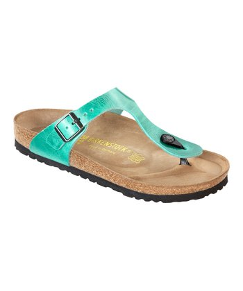 Mint Leather Gizeh Thong Sandal - Women