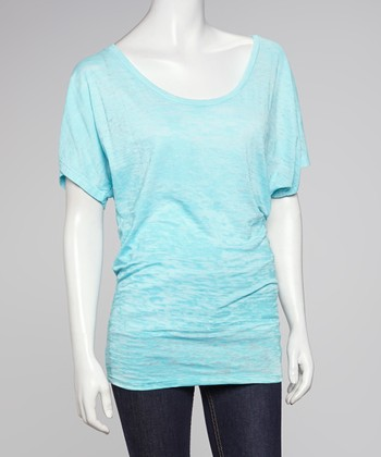 Blue Burnout Dolman Tee
