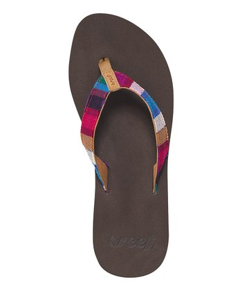 Brown Stripe Guatemalan Love Flip-Flop
