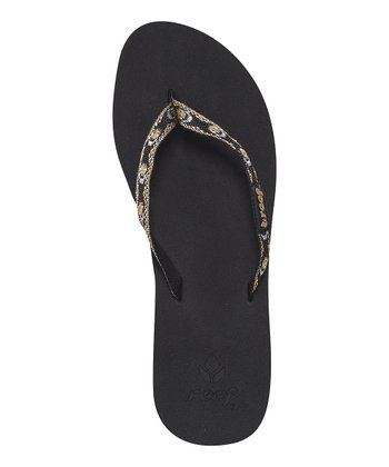 Black Metallic Ginger Flip-Flop