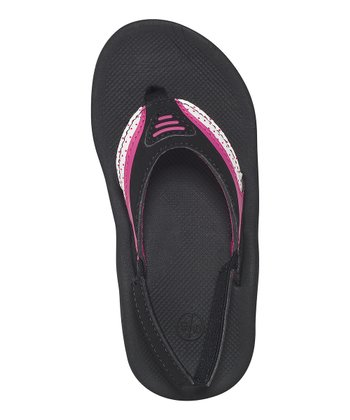 Black & Pink Dots Little Slap 2 Flip-Flop