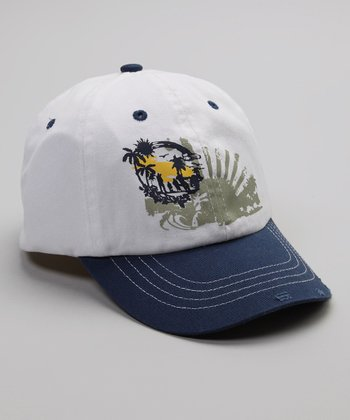 White & Navy Sunrise Baseball Cap