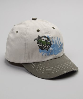 Putty & Olive Green Sunrise Baseball Cap