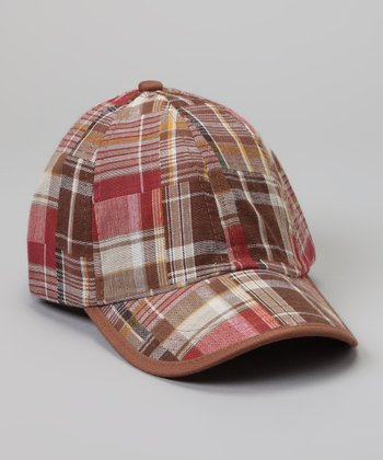 Beige Plaid Baseball Cap