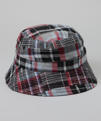 Black & Red Plaid Reversible Bucket Hat