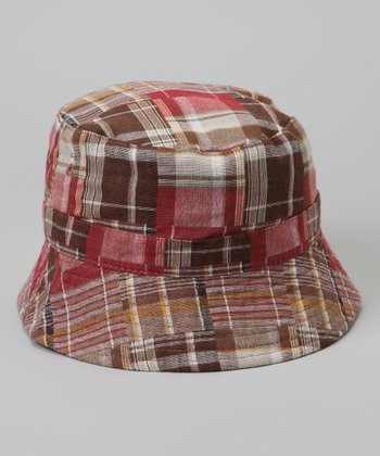 Tan Plaid Reversible Bucket Hat