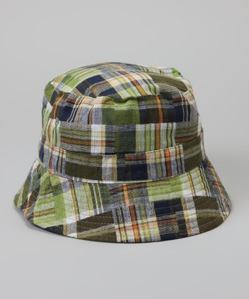 Green Plaid Reversible Bucket Hat