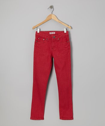 Red Skinny Jeans - Boys