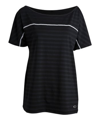 Jet Black Extend Short-Sleeve Top