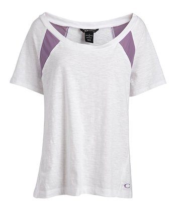 White Relax Short-Sleeve Top - Women