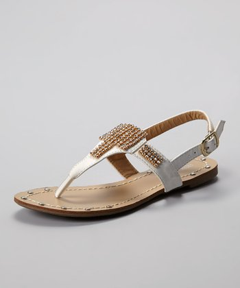 White Amy Sandal