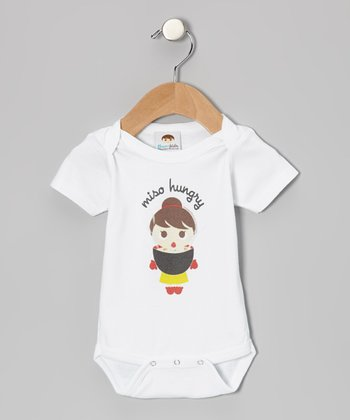 White 'Miso Hungry' Flavorkid Bodysuit - Infant