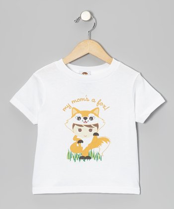 White 'My Mom's a Fox' Flavorkid Tee - Toddler & Kids