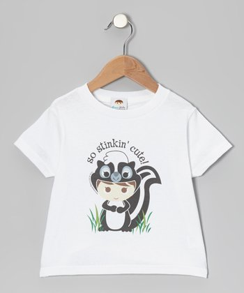 White 'So Stinkin' Cute' Tee - Toddler & Kids