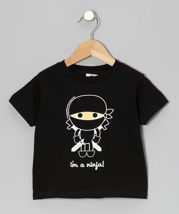 Black 'I'm a Ninja' Flavorkid Tee - Toddler & Kids